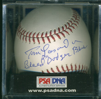 TOM LASORDA - AUTOGRAPHED SIGNED BASEBALL