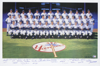 Autographs: THE 1961 NEW YORK YANKEES - COLLECTION CIRCA 1990 WITH YOGI BERRA, BUD DALEY, ART DITMAR, JOE DE MAESTRI, BILLY GARDNER, JIM COATES, BILL MOOSE SKOWRON, CLETE BOYER AND OTHERS