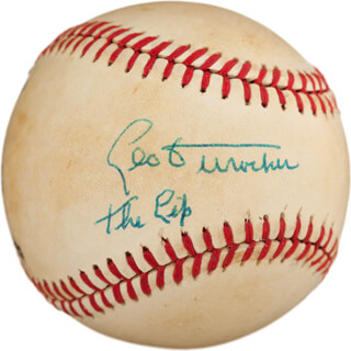 LEO DUROCHER - AUTOGRAPHED SIGNED BASEBALL