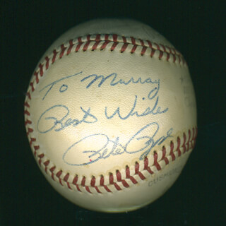 PETE ROSE - INSCRIBED BASEBALL SIGNED