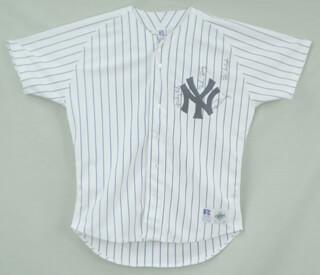 THE NEW YORK YANKEES - JERSEY SIGNED CO-SIGNED BY: RON ROCKY SWOBODA, MIKE TORREZ, SPARKY LYLE, RON LOUISIANA LIGHTNING GUIDRY