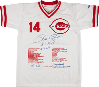 PETE ROSE - JERSEY SIGNED  - HFSID 293085