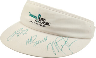 MICHAEL AIR JORDAN - HAT SIGNED CO-SIGNED BY: MIKE SCHMIDT