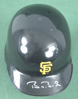 Autographs: BARRY L. BONDS - MINIATURE HELMET SIGNED