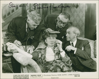 STERLING HOLLOWAY - AUTOGRAPHED SIGNED PHOTOGRAPH