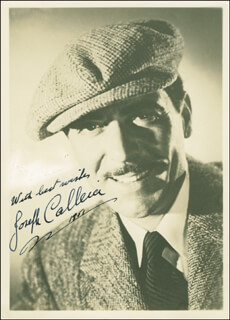 JOSEPH CALLEIA - AUTOGRAPHED SIGNED PHOTOGRAPH 1951