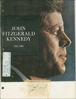 Autographs: PRESIDENT JOHN F. KENNEDY - COLLECTION