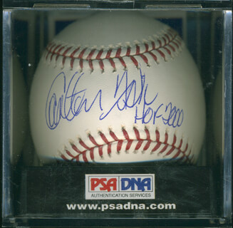 CARLTON PUDGE FISK - AUTOGRAPHED SIGNED BASEBALL