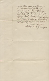 COLE YOUNGER - AUTOGRAPH LETTER SIGNED 03/26/1899