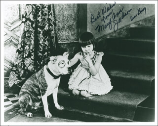 MARY ANN JACKSON - AUTOGRAPHED SIGNED PHOTOGRAPH