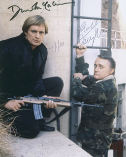 THE MAN FROM U.N.C.L.E. TV CAST - AUTOGRAPHED SIGNED PHOTOGRAPH 07/01/2010 CO-SIGNED BY: DAVID McCALLUM, ROBERT VAUGHN