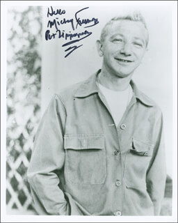 MICKEY FREEMAN - AUTOGRAPHED SIGNED PHOTOGRAPH