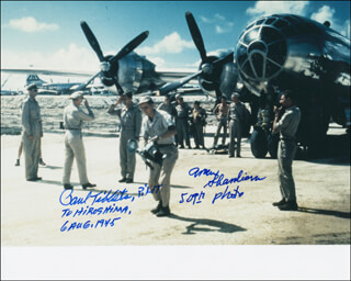 Autographs: ENOLA GAY CREW (PAUL W. TIBBETS) - PHOTOGRAPH SIGNED CO-SIGNED BY: ARMEN SHAMLIAN