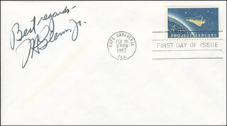 JOHN GLENN - FIRST DAY COVER WITH AUTOGRAPH SENTIMENT SIGNED  - HFSID 293385