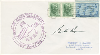 COLONEL GORDON COOPER JR. - FIRST DAY COVER SIGNED