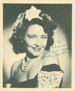 DOROTHY SEBASTIAN - AUTOGRAPHED INSCRIBED PHOTOGRAPH