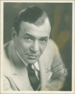 HARRY RICHMAN - AUTOGRAPHED INSCRIBED PHOTOGRAPH