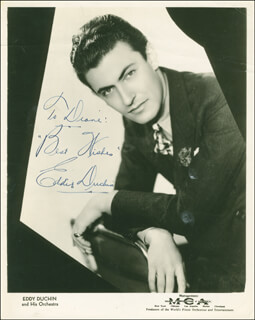 EDDY DUCHIN - AUTOGRAPHED INSCRIBED PHOTOGRAPH