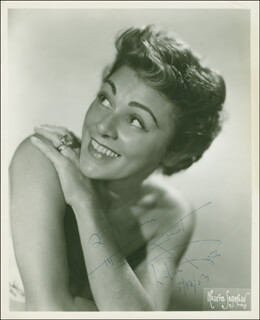 LILLIAN ROTH - AUTOGRAPHED INSCRIBED PHOTOGRAPH 05/12/1954