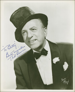 TED LEWIS - AUTOGRAPHED INSCRIBED PHOTOGRAPH