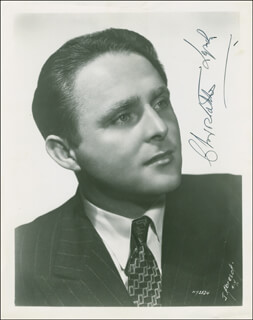 CHRISTOPHER VOICE OF FIRESTONE LYNCH - AUTOGRAPHED SIGNED PHOTOGRAPH