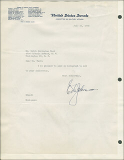GOVERNOR EDWIN C. JOHNSON - TYPED LETTER SIGNED 07/31/1945