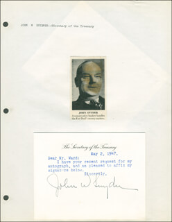 JOHN W. SNYDER - TYPED LETTER SIGNED 05/02/1947
