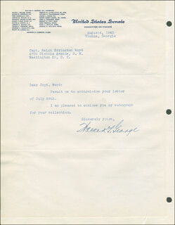 WALTER F. GEORGE - TYPED LETTER SIGNED 08/04/1945