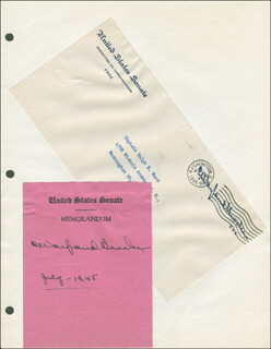 Autographs: C. WAYLAND BROOKS - SIGNATURE(S) 07/1945