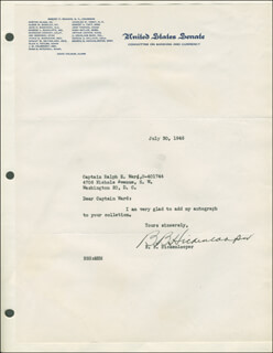 BOURKE B. HICKENLOOPER - TYPED LETTER SIGNED 07/30/1945