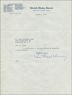 Autographs: GEORGE A. WILSON - TYPED LETTER SIGNED 08/06/1945