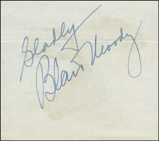 BLAIR MOODY - AUTOGRAPH SENTIMENT SIGNED