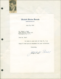 JOSEPH H. BALL - TYPED LETTER SIGNED 07/31/1945