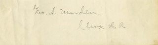 GEORGE MARDEN - AUTOGRAPH