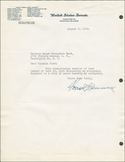 Autographs: FORREST C. DONNELL - TYPED LETTER SIGNED 08/03/1945