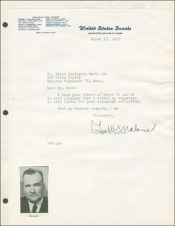 GEORGE W. MALONE - TYPED LETTER SIGNED 03/17/1947