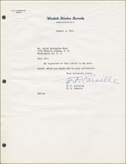 EDWARD P. CARVILLE - TYPED LETTER SIGNED 08/03/1945