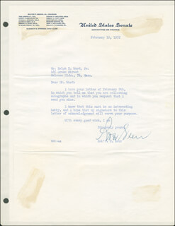 ROBERT S. KERR - TYPED LETTER SIGNED 02/12/1952
