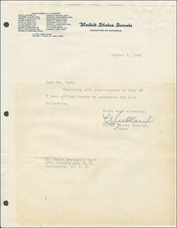W. LEE O'DANIEL - TYPED LETTER SIGNED 08/03/1945