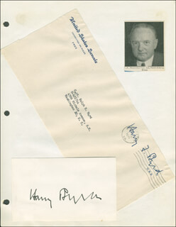 HARRY F. MR. ECONOMY BYRD SR. - AUTOGRAPH