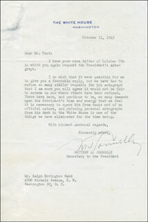 MATTHEW J. CONNELLY - TYPED LETTER SIGNED 10/11/1945