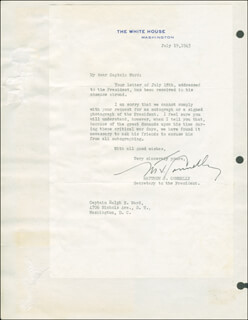 MATTHEW J. CONNELLY - TYPED LETTER SIGNED 07/19/1945