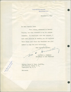 MATTHEW J. CONNELLY - TYPED LETTER SIGNED 11/05/1945