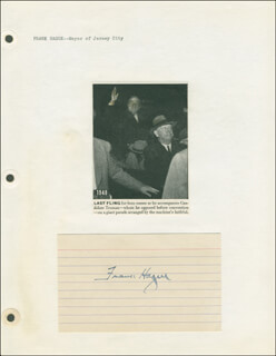 Autographs: MAYOR FRANK HAGUE - SIGNATURE(S)