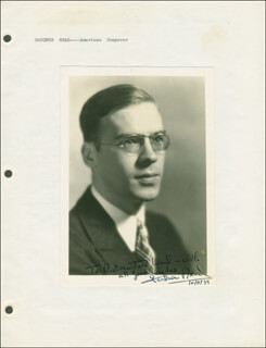 GARDNER READ - AUTOGRAPHED INSCRIBED PHOTOGRAPH 10/11/1939