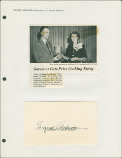 SIGURD ANDERSON - AUTOGRAPH  - HFSID 293791
