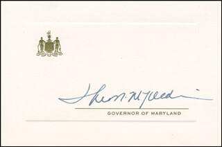 GOVERNOR THEODORE MCKELDIN - PRINTED CARD SIGNED IN INK