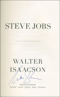 WALTER ISAACSON - BOOK SIGNED