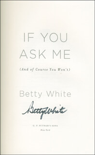 BETTY WHITE - BOOK SIGNED