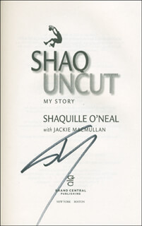 SHAQUILLE SHAQ O'NEAL - BOOK SIGNED